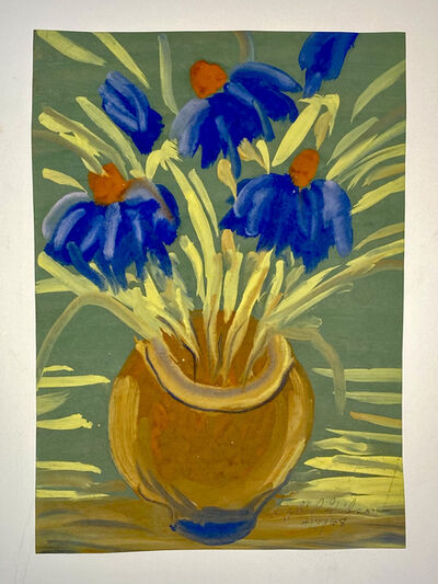 Sybil Gibson, 'Brown Pot of Flowers', 1968