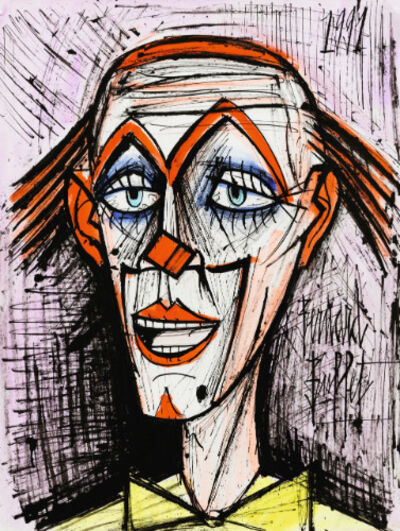Bernard Buffet, 'CLOWN FOND MAUVE', 1991