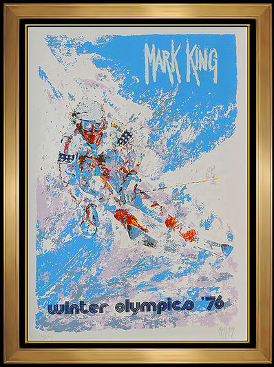 Mark King, 'Mark King Winter Olympics Color Serigraph Signed Downhill Snow Skiing Artwork', 20th Century