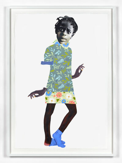 Deborah Roberts, 'You can't pimp a butterfly', 2018
