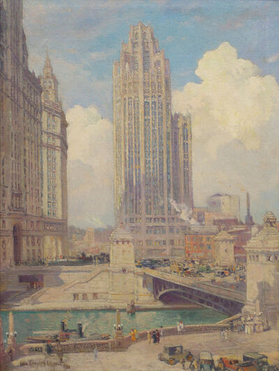 Colin Campbell Cooper, 'Tribune Tower and Wrigley Building', 1926