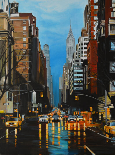 Angela Wakefield, 'Chrysler Building, New York Storm on 42nd Street', 2017