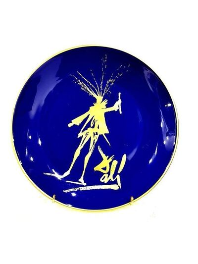 "Salvador Dalí, 'Limoges Porcelain Blue and Gold ""Faust's Silhouette"" by Salvador Dali', 1968"