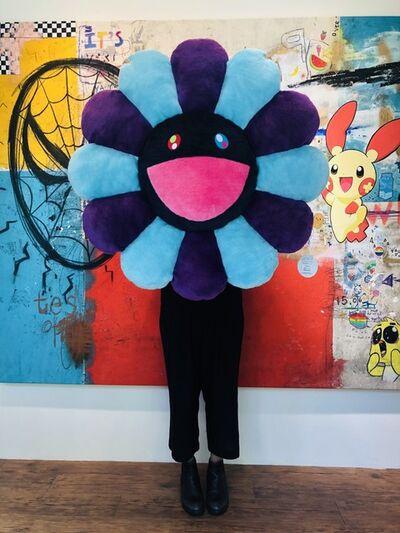 Takashi Murakami, 'Flower Cushion Blue Purple x Navy', 2019