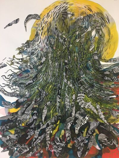 Anne Austin Pearce, 'Octopus In Yellow Ocean', ca. 2020
