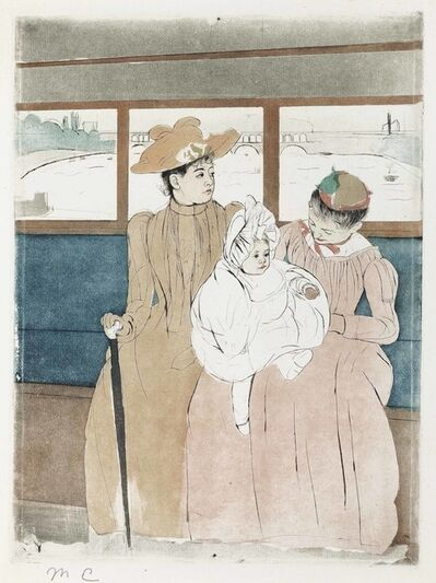Mary Cassatt, 'In the Omnibus', 1890-1