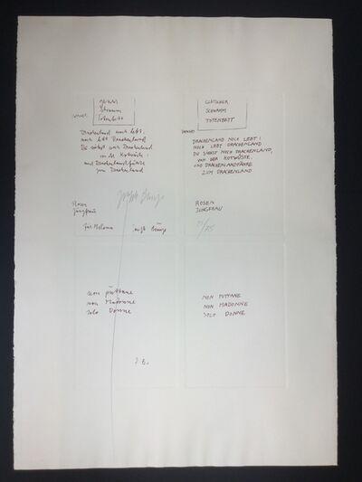 Joseph Beuys, 'Gletcher Schwamm Totenbett', 1979