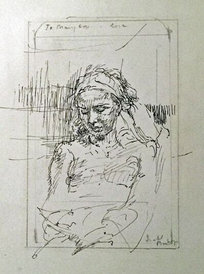 Isabel Bishop, 'UNTITLED (SEATED WOMAN WITH HEADBAND)', 1940-1950