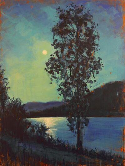 David Wilson, 'Moonrise and Cottonwood Tree', 2017