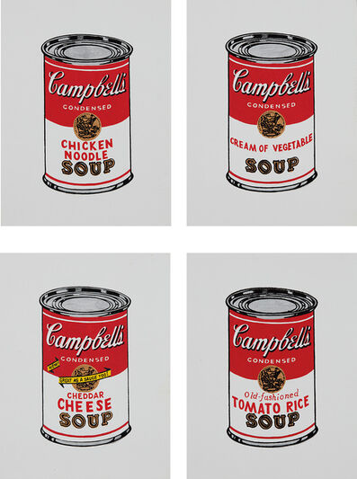 Richard Pettibone, 'Chicken Noodle; Cream of Vegetable; Cheddar Cheese and Tomato Rice, from Andy Warhol, '32 Cans of Campbell's Soup,' 1962', 1987