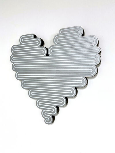 Jenna Krypell, 'Unraveling Heart (Silver)', 2021