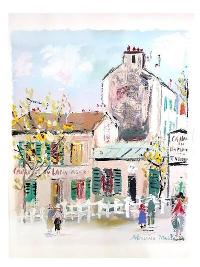 "Maurice Utrillo, 'Pochoir ""Inspired Village of Montmartre"" after Maurice Utrillo', 1950"