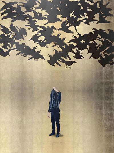 Hugo Lugo, 'Acto para repensar el deslumbramiento con parvada de sombras (Japón S. VII)', 2016