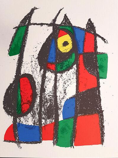 Joan Miró, 'Mirò Lithographe II - Plate VII', 1975