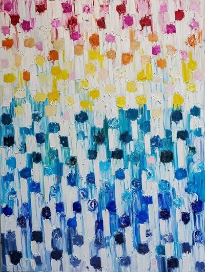 Cindy Shaoul, 'Dripping Dots - Rainbow', 2020