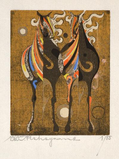 Nakayama Tadashi, 'Two Riding Horses', 1969