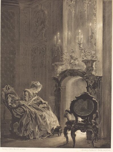 Adolph Menzel, 'Woman before a Fire', 1851