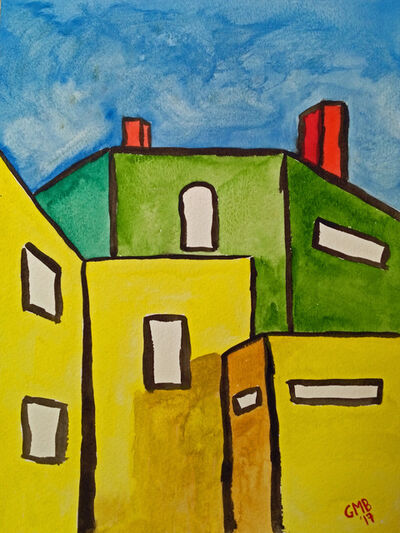 Greg Mason Burns, 'Two Apartment Buildings ', 2020