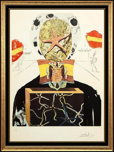 Salvador Dalí, 'Salvador Dali Original Color Etching Hand Signed Surrealist King Large Artwork', 1971