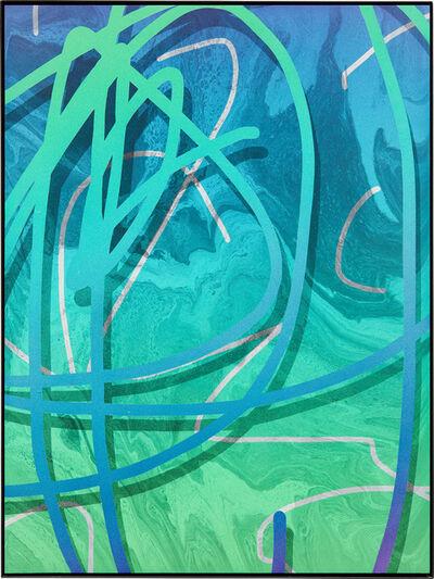 Michael Staniak, 'PSD_692 (green/blue/purple)', 2013