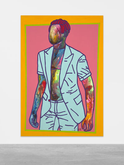 Ajarb Bernard Ategwa, 'With my sky blue coat', 2020