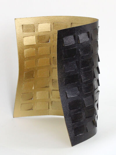 Tracey Meyer, 'What Shapes Us - 29, unique woodfiber sculpture with a gleaming  gold interior and a satin black exterior ', 2020