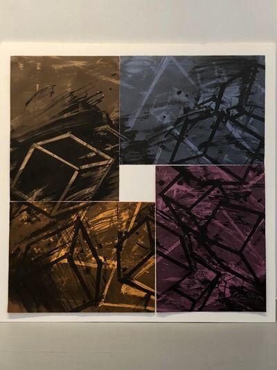 """Mel Bochner, '""""Four color quartet""""', 1990"""