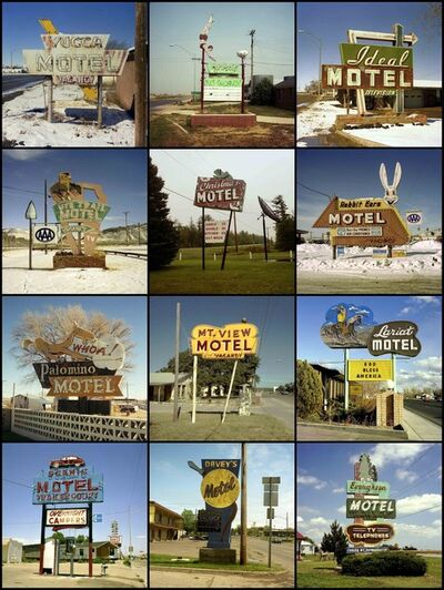 Steve Fitch, 'Motel Signs, 1979 to 1989'