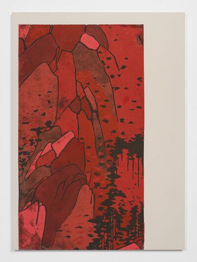 Kour Pour, 'Red Monochrome Landscape (Hiroshige)', 2019