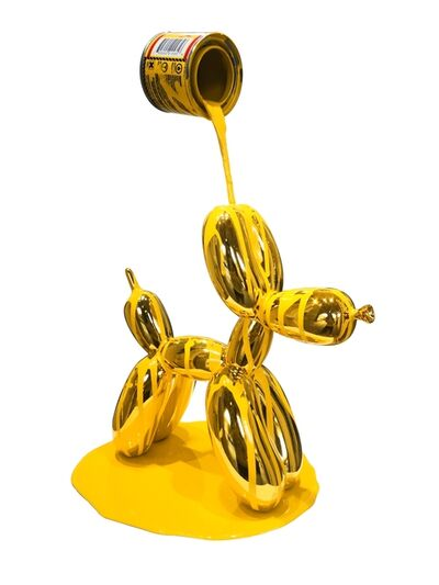 Joe Suzuki, 'Balloon Puppy (Gold and yellow)', 2020