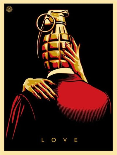 Shepard Fairey, 'Love Is The Drug (Red)', 2012