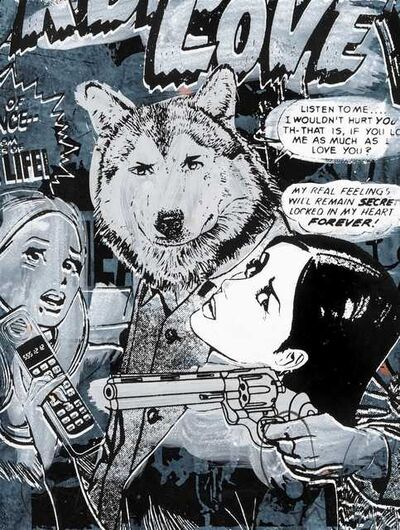FAILE, 'Forbidden Love (Blue)', 2008