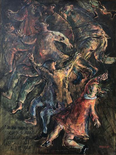 Yosl Bergner, 'The Castle - Pintings for Franz Kafka', 1988