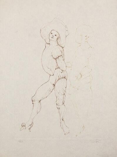 Leonor Fini, 'Les Elus de la nuit (3A)', 1986