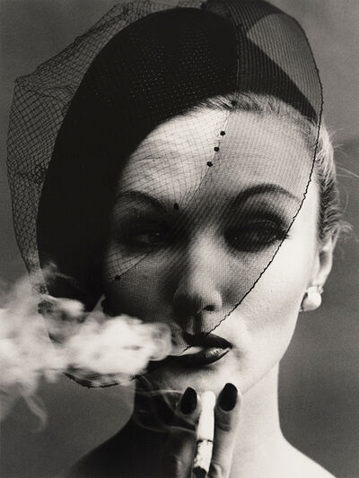 William Klein, 'Smoke and Veil, Paris (Vogue)', 1956