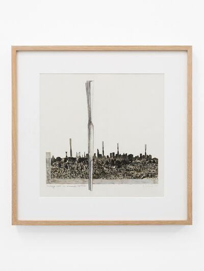 Helen Escobedo, 'Paisaje 2000 con monumento repetitivo', 1983