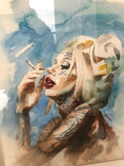 Chris Guest, 'Smoking Diva', 2020
