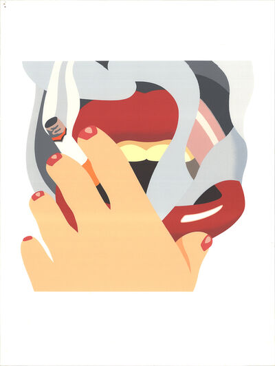 Tom Wesselmann, 'Smoker, from an American Portrait', 1976