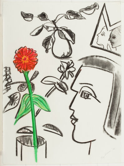 Fay Lansner, 'Heads and Flowers', 1982