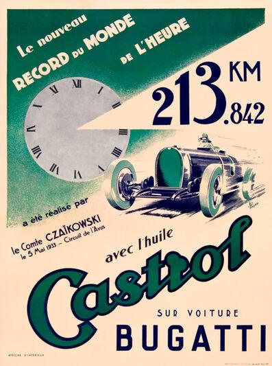 Jean Pillod, 'CASTROL BUGATTI', 1933