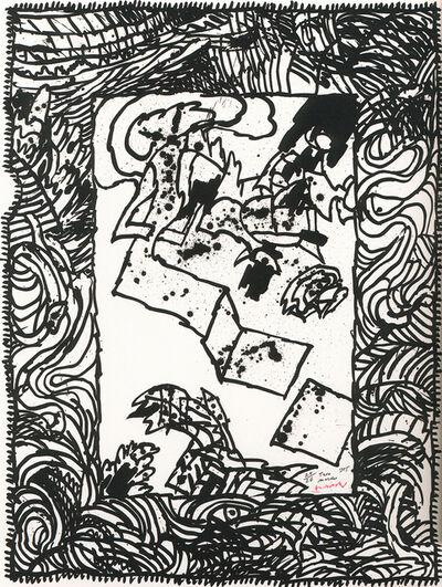 """Pierre Alechinsky, '""""Trois marches""""', 1985"""