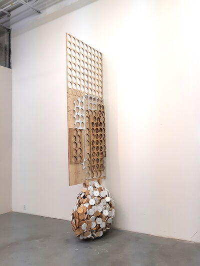 Robert Kananaj, 'Head of Circles (Wooden Head)', 2019