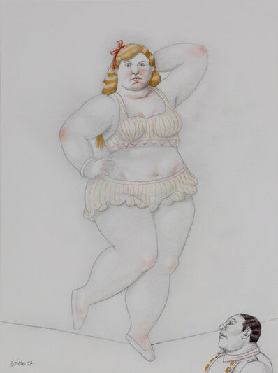 Fernando Botero, 'Tightrope walker', 2007