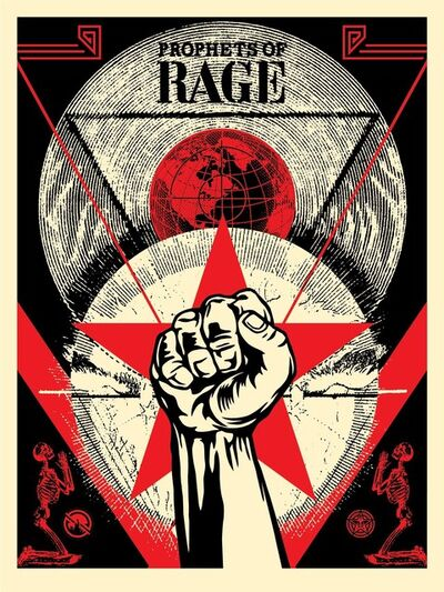 Shepard Fairey, 'Prophets of Rage - New Day Rising'
