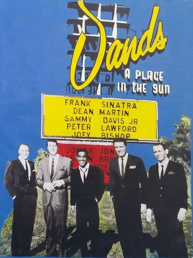 Steve Kaufman, 'THE RAT PACK AT THE SANDS HOTEL', 1995-2005