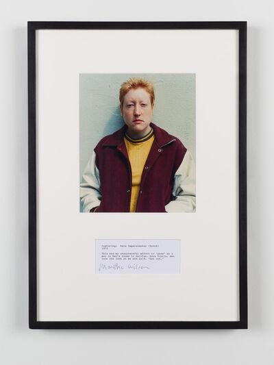 Martha Wilson, 'Posturing: Male Impersonator (Butch)', 1973