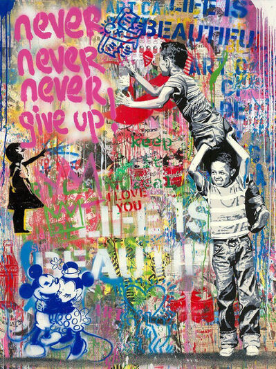 Mr. Brainwash, 'Never Never Give Up!', 2020