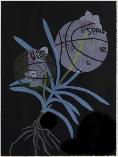 Jonas Wood, 'Double Basketball Orchid (State III)', 2020
