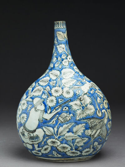 Unknown Artist, 'Flask with figures, animals, and leaves', 17th Century