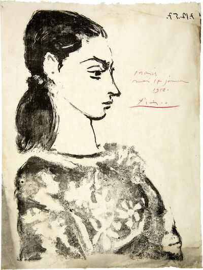 Pablo Picasso, ' Femme au Corsage à Fleurs', 1957